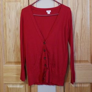 Red cardigan! Size m!